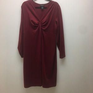 Lane Bryant Wine Colored Knit Dress